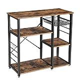 VASAGLE Küchenregal Metall, im Industrie-Design, stabiles Standregal, platzsparendes...