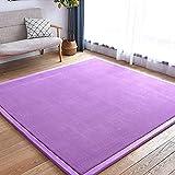 AKEFG Rosa lila Kinder Spielen Gymnastikmatten Baby Teppich (3 cm dick) Geeignet für Kinder zum...