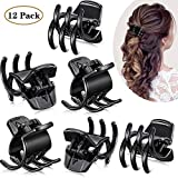 12 Pieces Hair Claw Clips Medium Size Hair Claws Hair Styling Accessories in 1.3 Inches for Women...