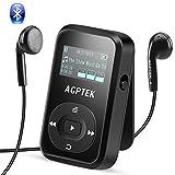 AGPTEK Bluetooth 4.2 8GB MP3 Player mit Clip, Sport HiFi Musik Player, FM-Radio, Sprachaufnahme, mit...