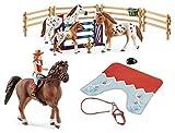 3in1-SET Schleich Pferde Horse Club - Hannah & Cayenne mit extra Pferdedecke und Turniertraining...