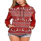 ZFQQ Frauen Schneeflocke Langarm Festliche Pullover