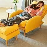 QPP-CL Moderner Klappbarer Lazy Chair, Moderner Lounge Sessel, Frame Leisure Sofa Stuhl Mit Armlehnen Und Pedal, Dicke Gepolsterte Rückenlehne, Geeignet Für Schlafzimmer, Wohnzimmer, Balkon