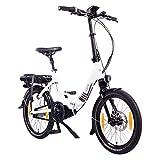 "NCM Paris MAX N8R / N8C E-Bike, E-Faltrad, 250W, 36V 14Ah 504Wh Akku, 20"" Zoll (Weiß mit..."