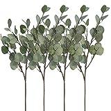 Aisamco 4 Stück Künstliche Silber Dollar Eukalyptus Büschen Spray in Grau Grün 25,5 'Hoch...