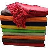 GMMH Fleckerlteppich Baumwolle Handweb Teppich Flickenteppich Fleckerl Handwebteppich (45 x 70cm,...