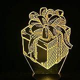 XKALXO 3D Nachtlicht Led Lampe Schlafzimmer Schreibtisch Geschenkbox Bowknot Hübsches Geschenk...