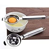 Dong Ran Edelstahl Eierseparator, Ei Eigelb Eiweiß Abscheider für Eiweiß- und Eigelbtrennung Küche kleine Werkzeuge