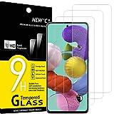 NEW'C 3 Stück, Schutzfolie Panzerglas für Samsung Galaxy A51, Frei von Kratzern, 9H Härte, HD Displayschutzfolie, 0.33mm Ultra-klar, Ultrabeständig
