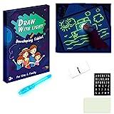 Magic Light Zeichenblock für Kinder,Doodle Board Zeichentafel LED Leuchttafel Leuchtstofftafel Leuchtstoff Leuchtstoff Schreibtafel (A3)