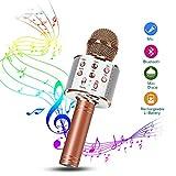 Karaoke Mikrofon, Drahtlose Bluetooth Mikrofon 1A Tragbares Handmikrofon mit Lautsprecher und...
