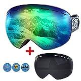 Boomersun Skibrille Snowboard Brille Ski Schutzbrille OTG UV400 Schutz Antibeschlag Winddicht...