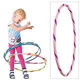 Hoopomania Bunter Hula Hoop für Kleine Profis Kinder Hula Hoop Reifen, Pink-Pink, Ø 70 cm, BKHH