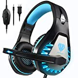 Pacrate Gaming Headset,Headset with 3.5mm Headphones with Noise Cancelling Microphone, LED Lights &...