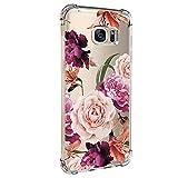Hülle für Samsung Galaxy S6 Edge Hülle Weich Silikon Handyhülle Blumen Schlank Floral...