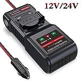 BMK 12V 24V auf 230V 300W Spannungswandler Wechselrichter Auto Stromwandler Inverter DC AC mit 1...