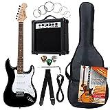 Rocktile Banger's Pack Komplettset E-Gitarre Schwarz (Verstärker, Tremolo, Tasche, Kabel, Gurt,...