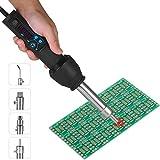 NOBGP Digitales Heißluftpistolen-Kit, tragbare Heißluft-Nacharbeitsstation mit...
