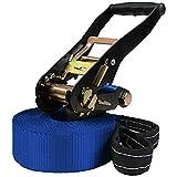 ALPIDEX Slackline 15 m für Anfänger und Fortgeschrittene geeignet, max. Belastung 2 Tonnen, inkl....