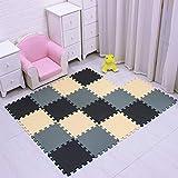 MSHEN Puzzlematte 18 Stück /Kälteschutz/abwaschbar Kinderspielteppich Matte/puzzlematte...