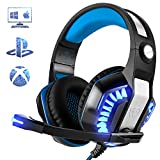Gaming Headset für PS4 PC Xbox One, Beexcellent LED Licht Professional Deep Bass Sourround Gaming...