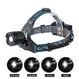 2000 Lumen Zoomable Cree LED Kopflampe, im Freien wasserdichten SOS-Scheinwerfer mit Cree XM-L T6...