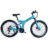 KP&CC Mehrere Schneidräder Mountainbike Erwachsene Stoßdämpfende Scheibenbremse Y-Faltrad Für...