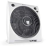 Tecvance, Weiß Box Fan Ventilator (32 cm) -Raumventilator mit 4 Stufen und Timer, Kleiner, leiser &...