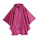 IPOTCH Atmungsaktiv Regenmantel, Wasserdicht Polka Dot Regenjacke Wiederverwendbar Regenbekleidung...