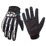 XQxiqi689sy Sport 1 Paar Herren Winter Warm Fahrrad Skelett Skelett Winddicht Full Finger Handschuhe...