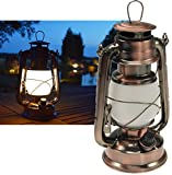 ChiliTec LED Camping Laterne Garten-Laterne Retro Design I Dimmbar Batteriebetrieb 4x AA Mignon...