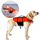 poppypet Hundeschwimmweste, Doggy Aqua-Top Schwimmweste Schwimmtraining für Hunde, Orange