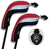 Andux 2 Packung Hybrid golf Schlägerkopfhüllen Golf Eisen deckt Eisenhauben austauschbar Nr....