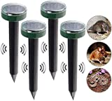RTGRCH Mole Rat Repellent Solar Ultraschall Repeller Spike Garden Pest Deterrent 4PACK