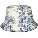 Tracray Bucket Hat Toile De Jouy Tapete Sun Fisherman Cap Outdoor-Mütze UV-Sonnenschutzhut Faltbare...
