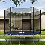 Zebery Outdoor Trampolin Starter, Kinder Trampolin, Gartentrampolin mit Sicherheitsnetz und Leiter-Randabdeckung Sprungmatte