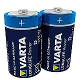 VARTA Longlife Power D Mono LR20 Batterie Alkaline Batterie (ideal für Spielzeug Taschenlampe...