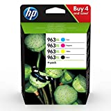 HP 963XL (3YP35AE) Multipack Original Druckerpatronen mit hoher Reichweite (für HP Officejet Pro 9010, 9012, 9015, 9016, 9019, 9020, 9022, 9025) schwarz, rot, gelb, blau