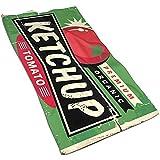 Abel Berth Ketchup Retro Sign Geschirrtuch aus Mikrofaser-Polyester, Geschirrtücher, weich und...