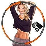 DUTISON Hula Hoop zur Gewichtsreduktion,Reifen mit Schaumstoff Gewichten Einstellbar Breit 48–88...