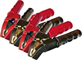 Winkel-Ladezangen-Satz WZ10 (rot) und WZ11 (schwarz) / bis 1000A / vollisoliert /Messing-Vollguss, über Haken und Zapfen verbundene Messing-Vollguss-Zangenhälften