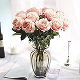 Longra Wohnaccessoires & Deko Kunstblumen Künstliche 5 Stück künstliche Fake Rosen Flanell Blume...