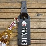 Flaschenöffner für Bierflaschen, Vintage-Stil, Gusseisen, zur Wandmontage