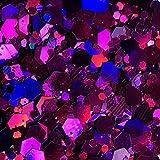 ICRAFT Glitzerbeutel für Wachs, Nagelkunst, Kunstharz, Karten, Kerzen und Seifen und allgemeine Bastelarbeiten, 10 g, Violett (Dunkelviolett)