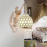 AKBOY Meerjungfrau Wandlampe Industrial Retro Vintage Metall Eisen Wandleuchte Schlafzimmer...