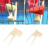 Girasool Papageien-/Obstgabel, Kunststoff, für Papageien, Vogelkäfig, Zubehör, Vogelfutterstation