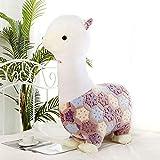 HPDT1 Kreative Schneeflocken Alpaka Puppen Nette Alpaka-weiches Spielzeug Cartoon Alpaka gefüllte...
