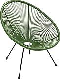 Kare Design Sessel Acapulco Grün, moderner Acapulco Sessel, Gartenstuhl, Outdoorstuhl, Relaxsessel,...