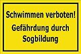 Melis Folienwerkstatt Schild Schwimmen verboten 60x40cm - 3mm Aluverbund – 20 VAR S00110-016-C