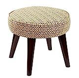 ACZZ Hocker-Sofa-Hocker/Kleine Holzbank/Schuhhocker Mode Kreativ/Luxus Stoff Multifunktions, Kleine...